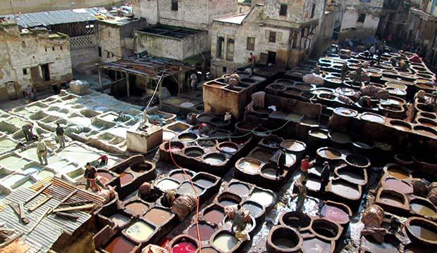 plaza de los curtidores de Fez o Curtiduría Chouwara