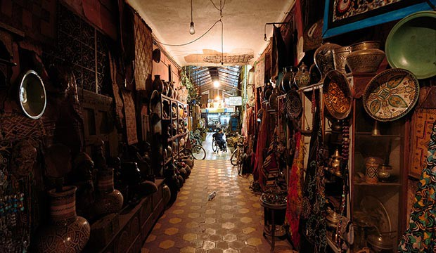bazar en el que regatear en Marruecos