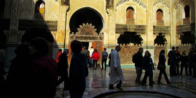 patio de la Madraza de Bou Inania en Fez