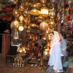 Marrakech. Tienda del zoco