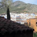 Vista panorámica de la ciudad. Alcazaba de Chaouen