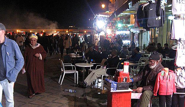 Una terraza de un café cualquiera en Marruecos