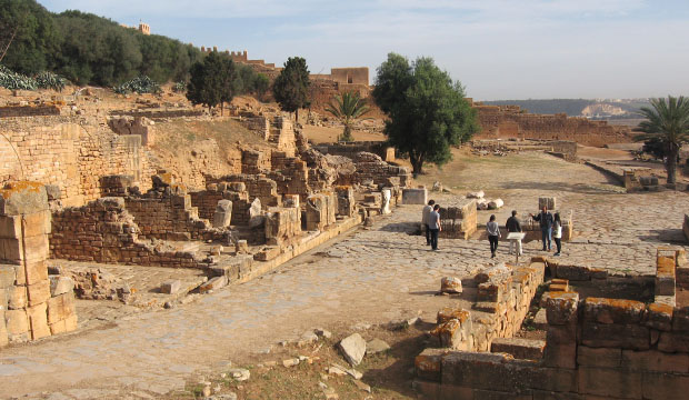 Restos de Sala Colonia en la Necrópolis de Chellah