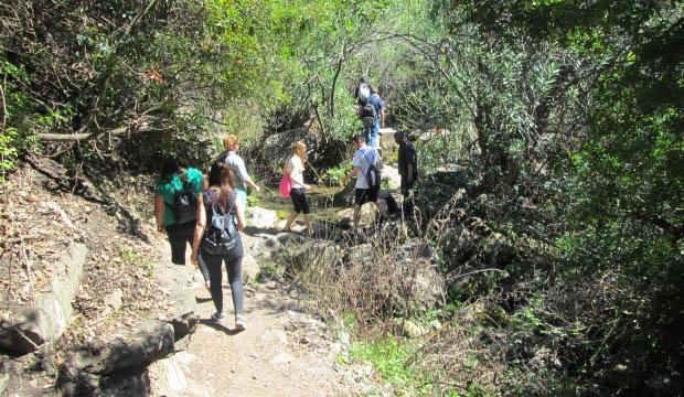 Grupo de senderistas en Akchour