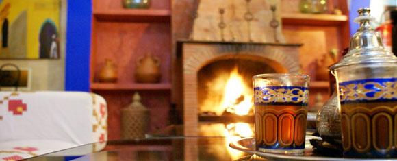 Salón del Riad Assilah en Chaouen