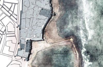 Mapa de Asilah. Plano turístico de la medina de Asilah