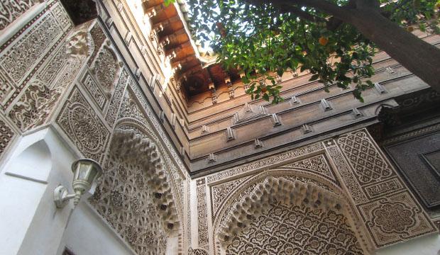 Palacio de Bahía es un lugar que ver en Marrakech con una diversa decoración