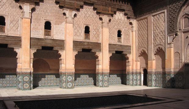 Para visitar Marrakech en dos días el segundo de ellos deberíamos visitar la Madraza de Ben Youseff