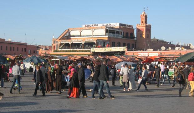 Plaza Jemaa El Fna de día