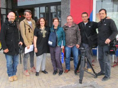 Todo el equipo de grabación de Destinos de Película en Marruecos