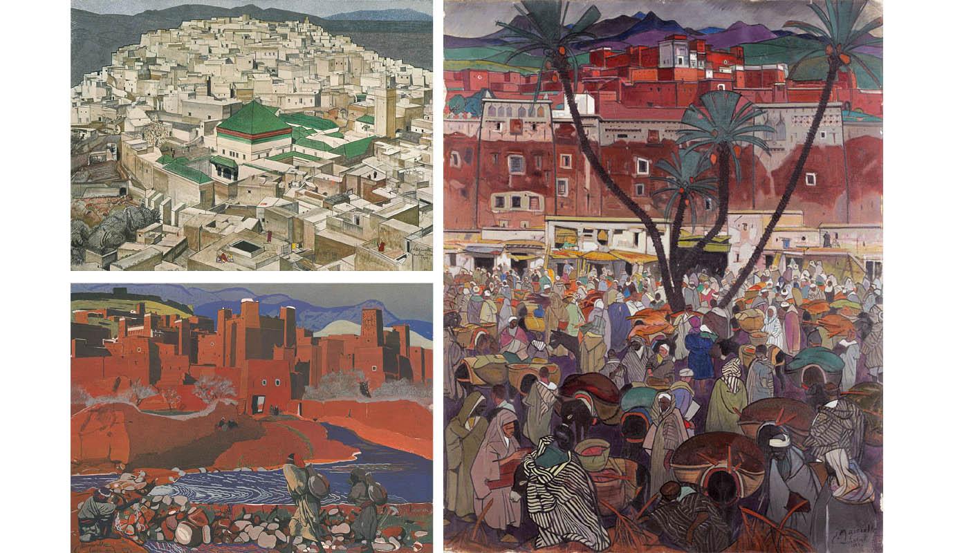 En los cuadros de Jaques Majorelle se entiende su visión de Marruecos presente en los jardines