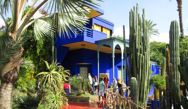 Los Jardines de Majorelle es uno de los espacios verdes que visitar en Marrakech más recomendables