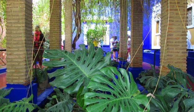 Yves Saint Laurent hizo una serie de reformas en los Jardines Majorelle que aun así conservó su esencia
