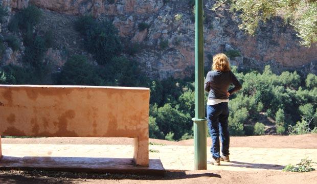 En Marruecos las cascadas o cataratas de Ouzoud hay numerosos miradores