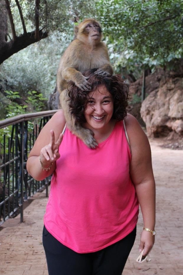 Hay que tener especial cuidado con los monos en las Cataratas de Ouzoud en Marrakech