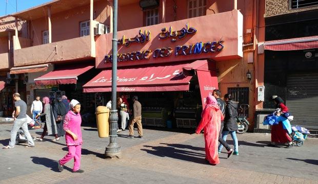 Patisserie des Princes es el lugar más indicado para comprar pastas en Marrakech
