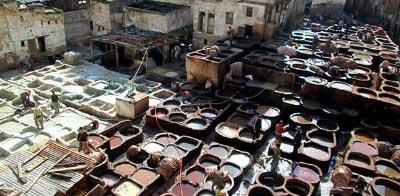 Información sobre Fez. Curtiduría Chouwara