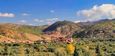 Información sobre Marrakech. Valle de Ourika