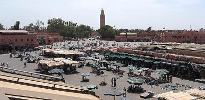 Marrakech guía. Plaza Yamaa el Fna