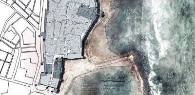 Turismo en Asilah. Mapa de Arcila