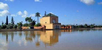 Turismo en Marrakech. Jardines de la Menara