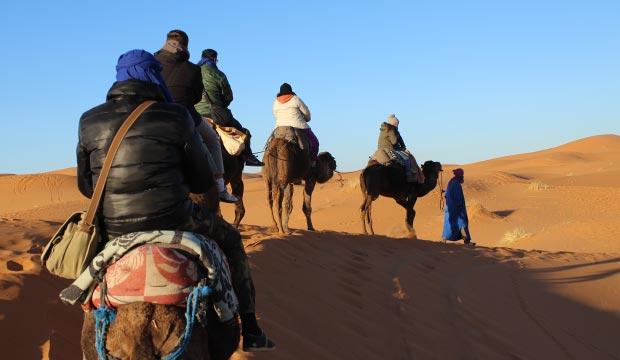 Un paseo en camello es lo mejor que podemos hacer en Merzouga (Erg Chebbi)