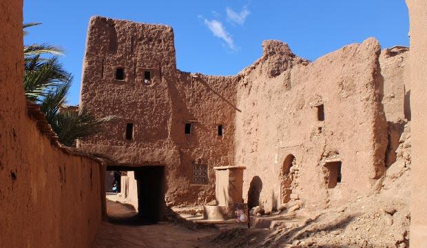 La Kasbah de Ait Ben Haddou en Marruecos es patrimonio de la humanidad