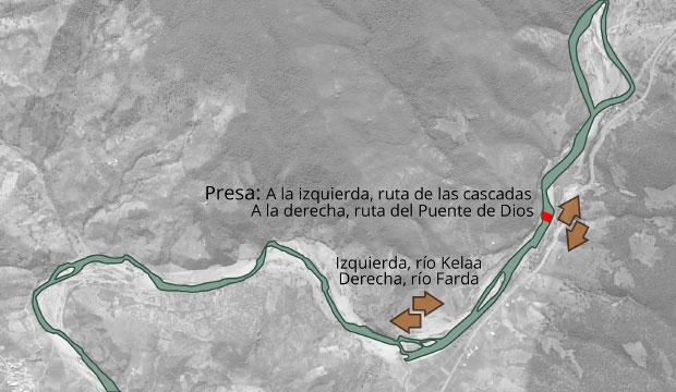 Mapa de Akchour