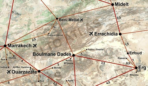 Mapa de Marruecos en español. Aeropuertos Marruecos mapa. Plano de Marruecos