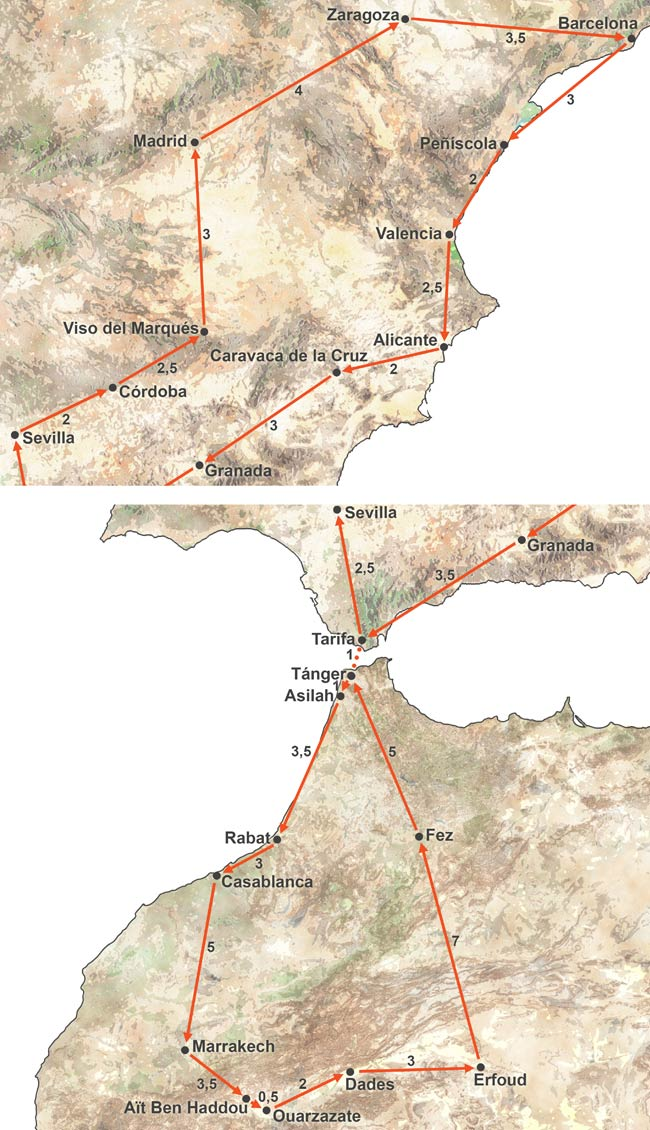 Circuito por España y Marruecos