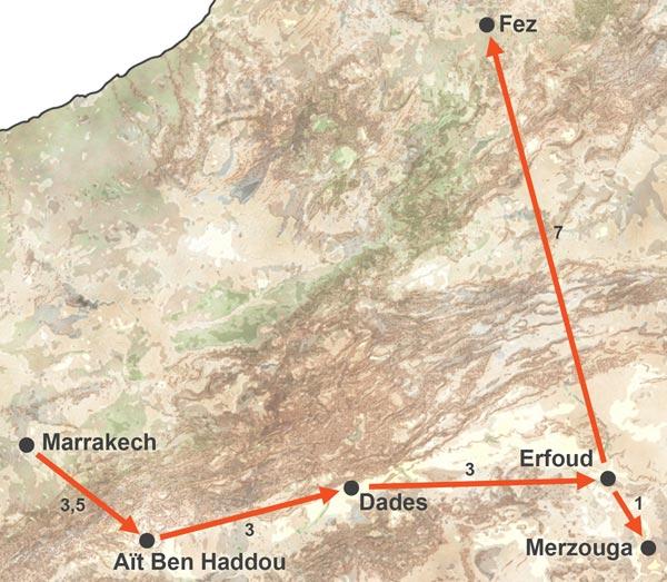 Sáhara, Marrakech y Fez