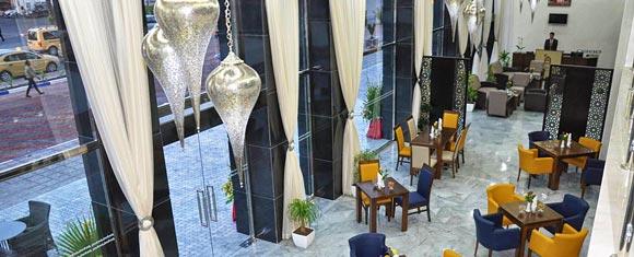 Recepción del hotel Palm Menara