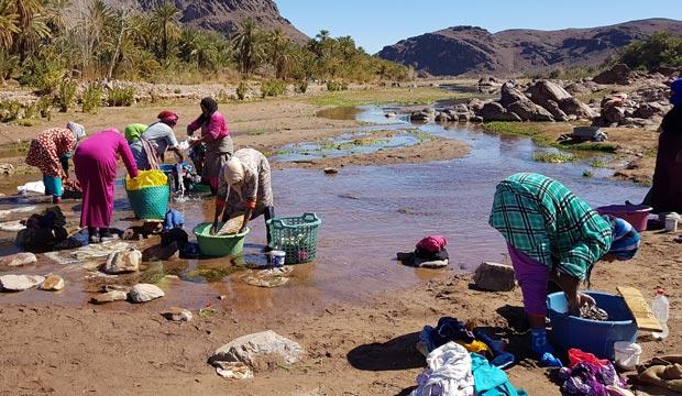 Cerca de Uarzazate o Ouarzazate (Marruecos) se encuentra el Oasis de Fint