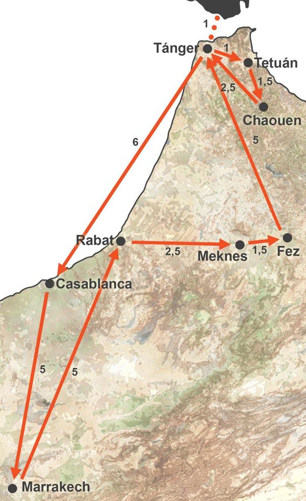 Ciudades Imperiales y Norte de Marruecos