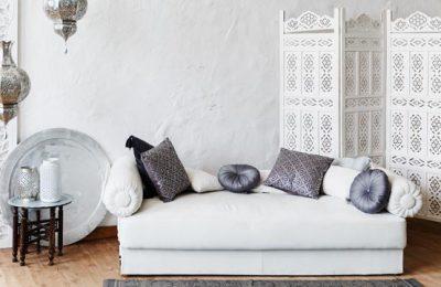 Decoracion marroquí, decoración arabe y sofá arabe