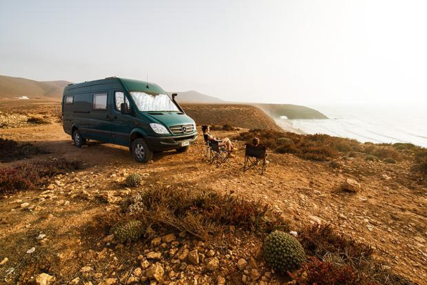 Essaouira fotos. Foto de la furgoneta de Jose Maria Piasentini, de dandovueltasfotos