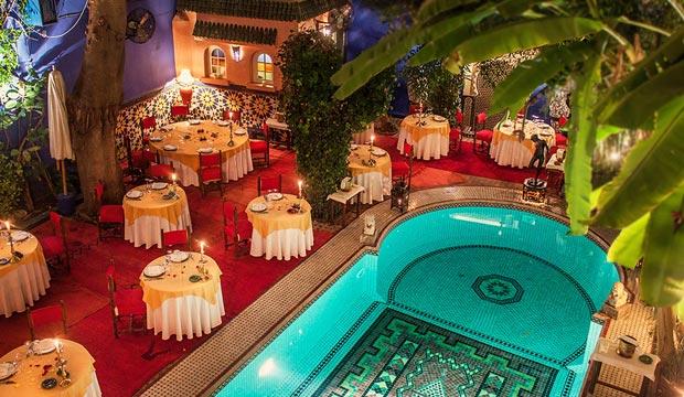 Restaurante Dar Moha (Marrakech). Dar moha restaurant (Marrakech, Morocco)