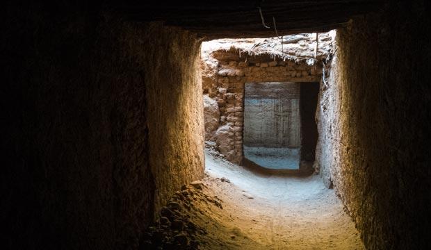 El ksar de Tamegroute o kasbah de Tamgroute se encuentra enterrado