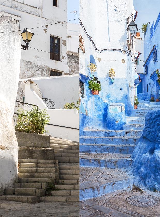 La historia de Vejer de la frontera en Cádiz está hermanada con la de Chaouen en Marruecos