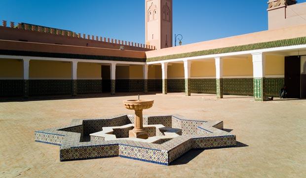 La zawiya de Tamegroute es uno de sus lugares más destacables