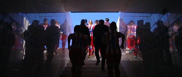 Las Gacetas del Estrecho, el equipo femenino local de Tánger, jugo contra el Atlético Féminas, el equipo de fútbol femenino del Atlético de Madrid