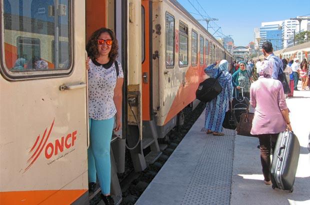 Uno de los transportes en Marruecos más aconsejables para las largas distancias es el tren