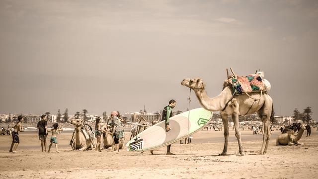 Como en Marrakech playa no hay, la playa de Essaouira es la opción más cercana