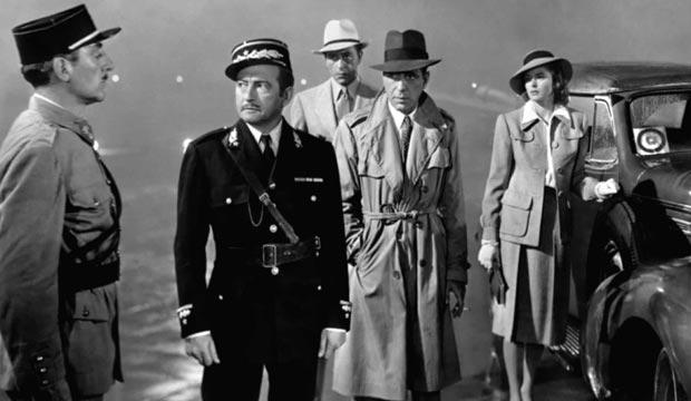 Dentro del reparto de Casablanca destacan Humphrey Bogart, Ingrid Bergman y Paul Henreid