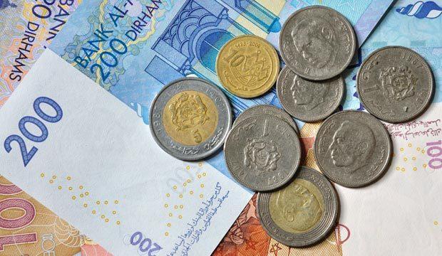 billetes oficiales de Marruecos de 20, 50, 100 y 200 dirhams