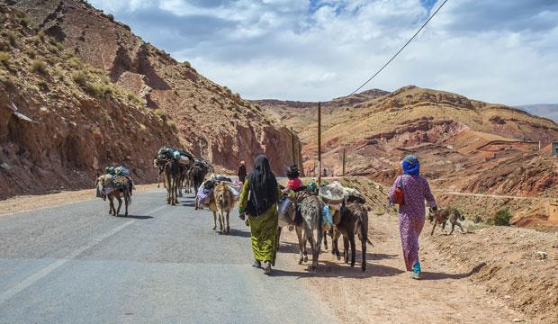 Dades en el camino de Marrakech a Merzouga