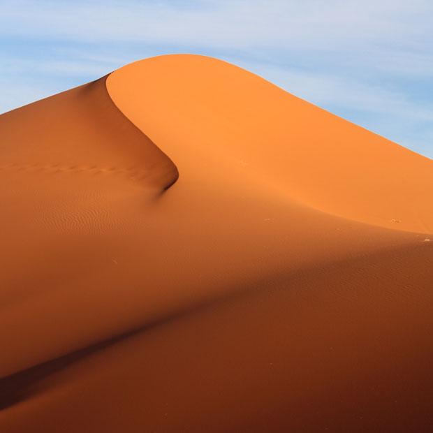 Dunas en el desierto del Sáhara (Merzouga)