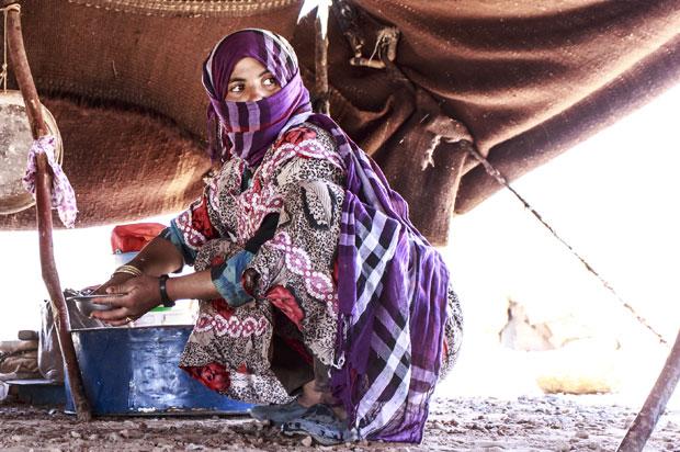Las familias nómadas es una de las cosas mas interesantes que ver en Merzouga (desierto del Sáhara)