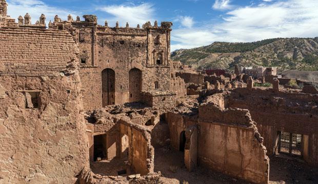 Uno de los mejores ejemplos en ruta de las kasbahs es la Kasbah Telouet