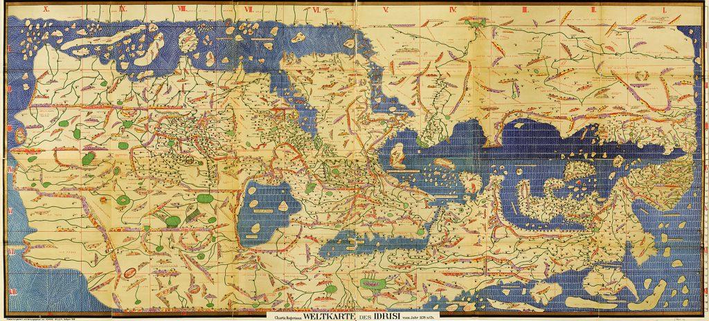 Al idrisi cartografía. Tabula rogeriana